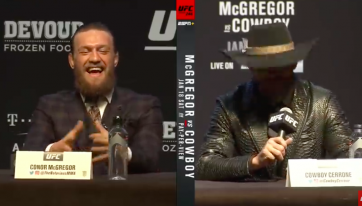 Viewers shocked by Conor McGregor's demeanour at UFC 246 press conference