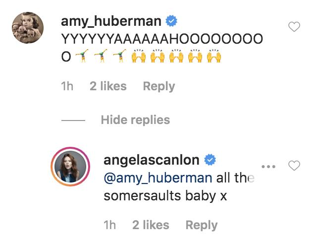 Angela Scanlon responds to Amy Huberman