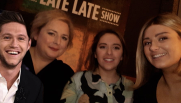 'Derry Girls' star Siobhan McSweeney and Niall Horan are unlikely friends after 'Late Late' appearance