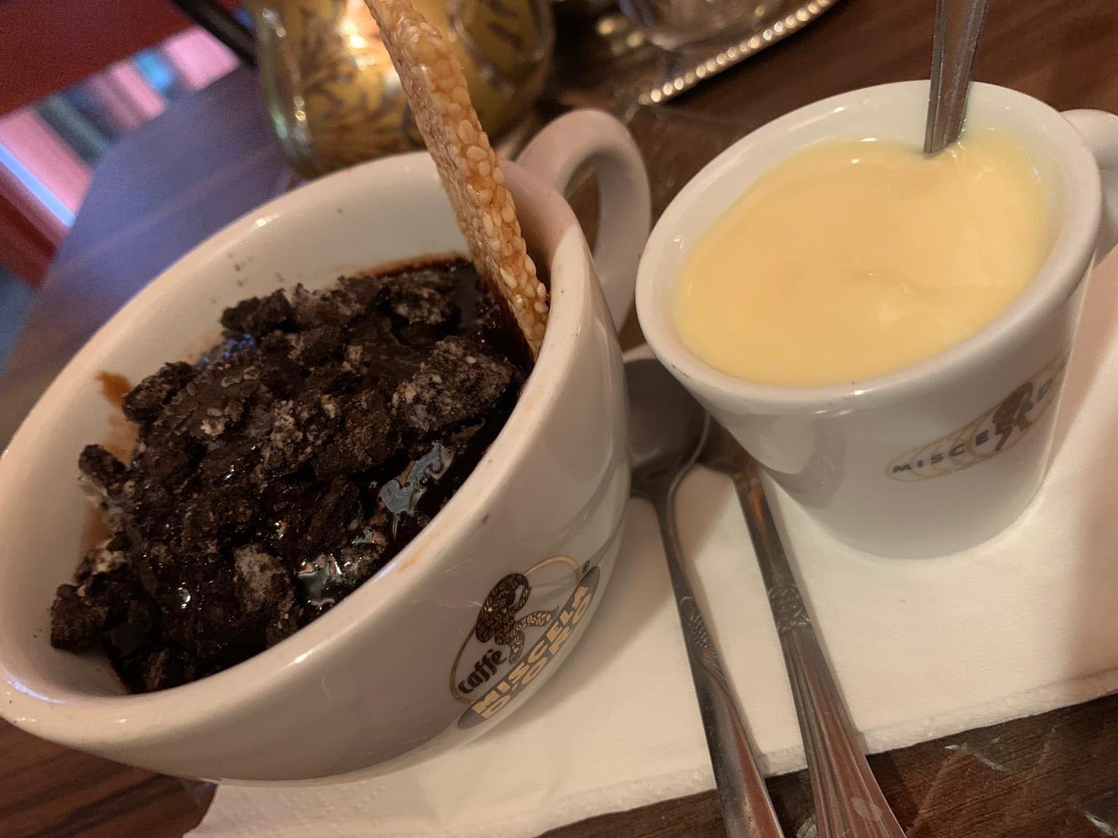 Dessert at The Olive Tree in Castlebar