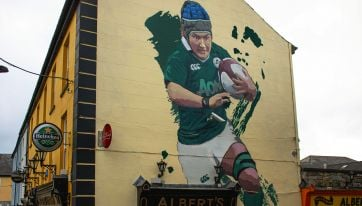 Some class murals of Ireland women's rugby players have been appearing around the country