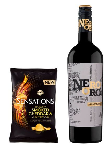 wine and crisps for the ultimate Valentine's night in