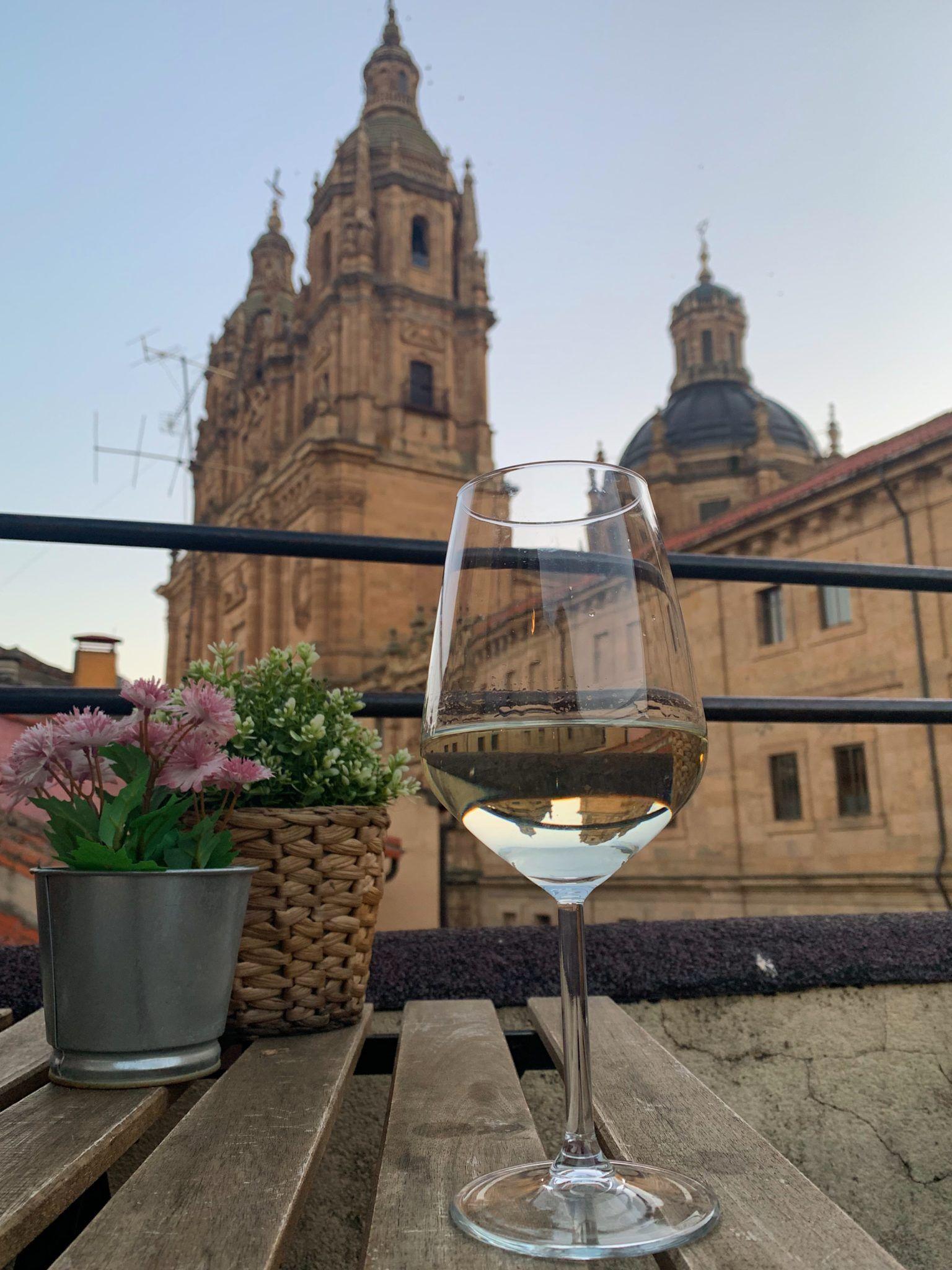 Terrace views at La Malhablada in Salamanca
