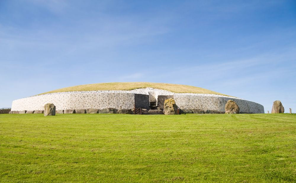 View of Newgrange historical site in Boyne Valley