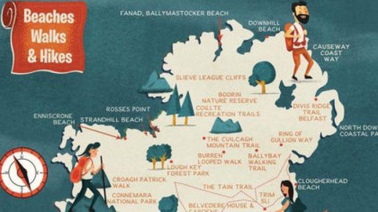 Map Of Ireland Beaches.This Handy Map Reveals The Best Beaches Walks And Hikes Around