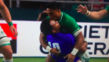 TWEETS: Irish Fans React To Bundee Aki's Red Card Against Samoa
