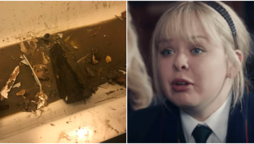 Derry Girls star lucky to escape injury after concrete block crashes through ceiling