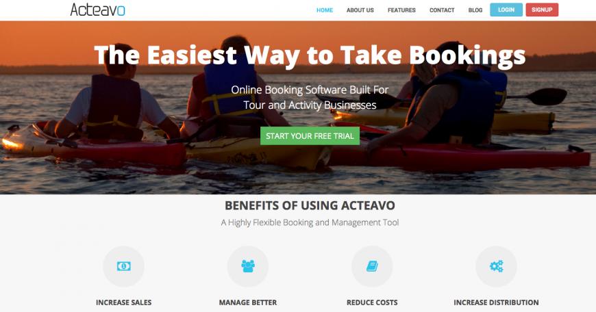 Acteavo-Homepage-Screen-Shot