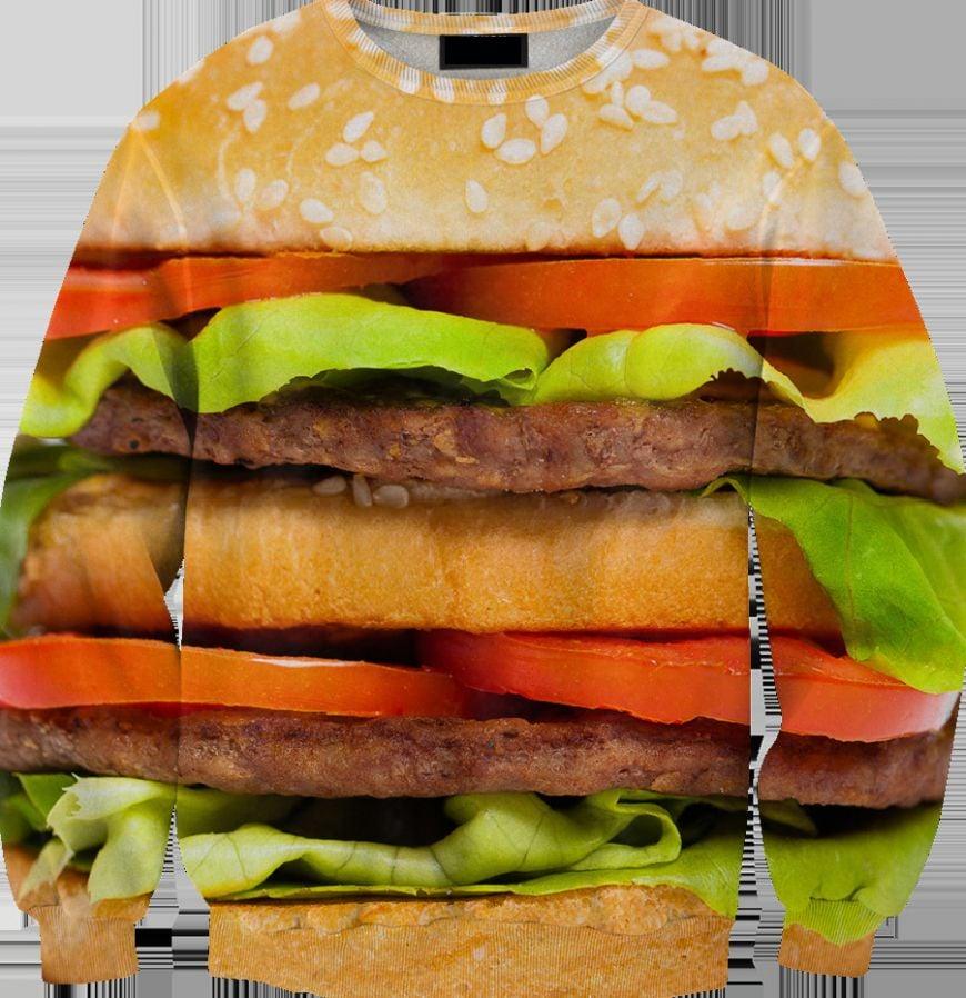 2015-New-Arrival-3D-Women-font-b-Sweatshirt-b-font-Print-font-b-Hamburger-b-font