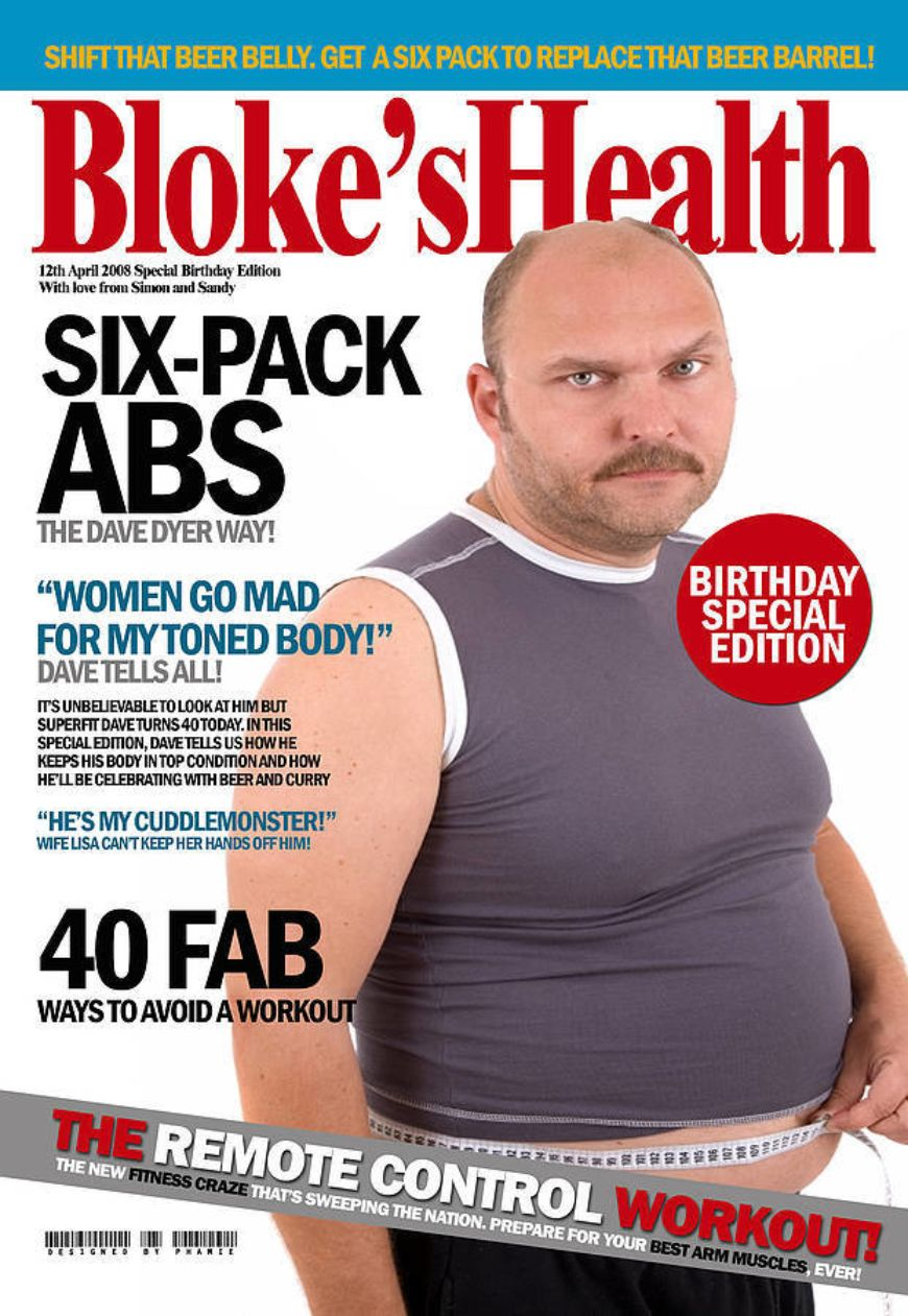 Original Personalised Birthday Magazine Cover Print Male