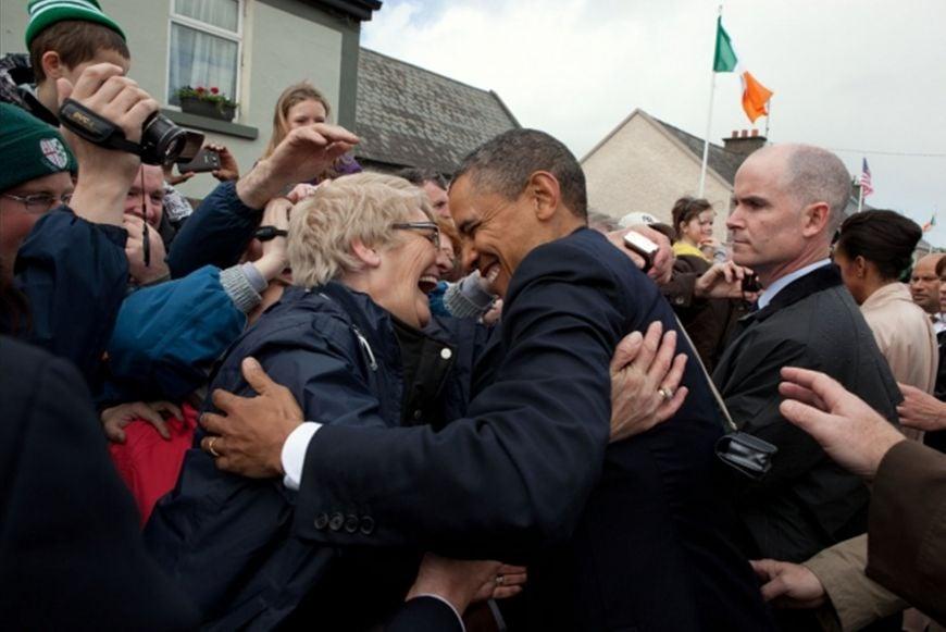 President Obama In Moneygall Ireland