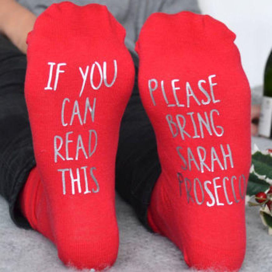 Normal Personalised Please Bring Prosecco Socks