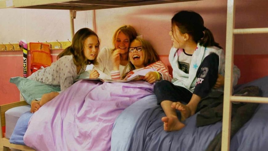 Girls On Bed