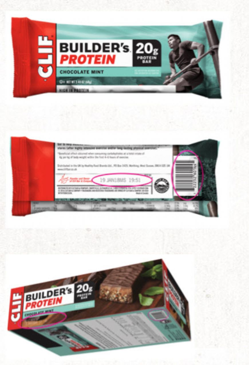 Zoomed Clif Bars