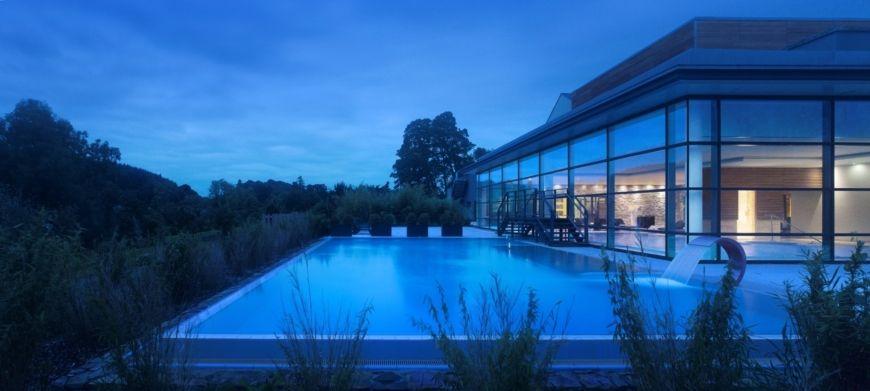 Pool Outside Nightime