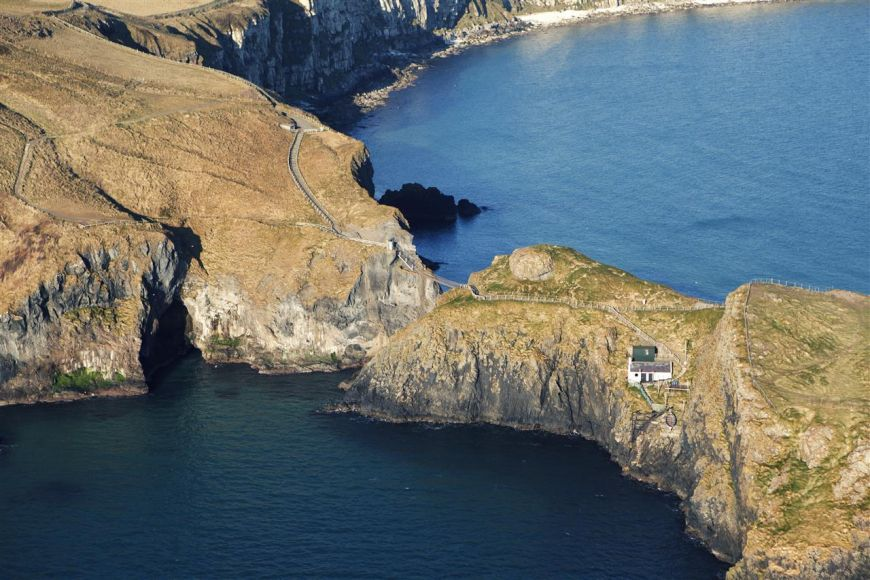Aerial View Of Carrick A Rede