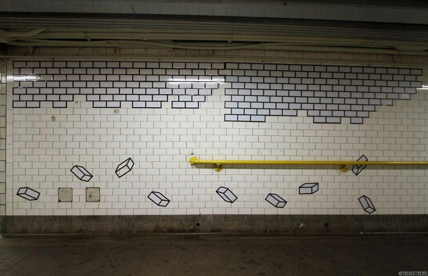 By-Aakash-Nihalani-at-a-Brooklyn-subway-station
