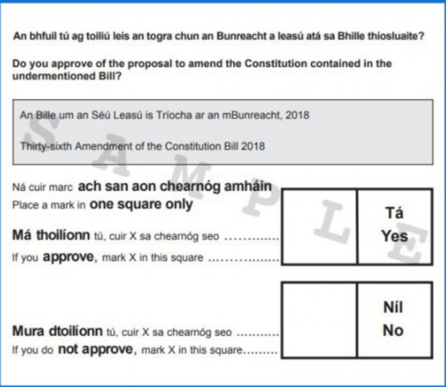 Sample Ballot Paper