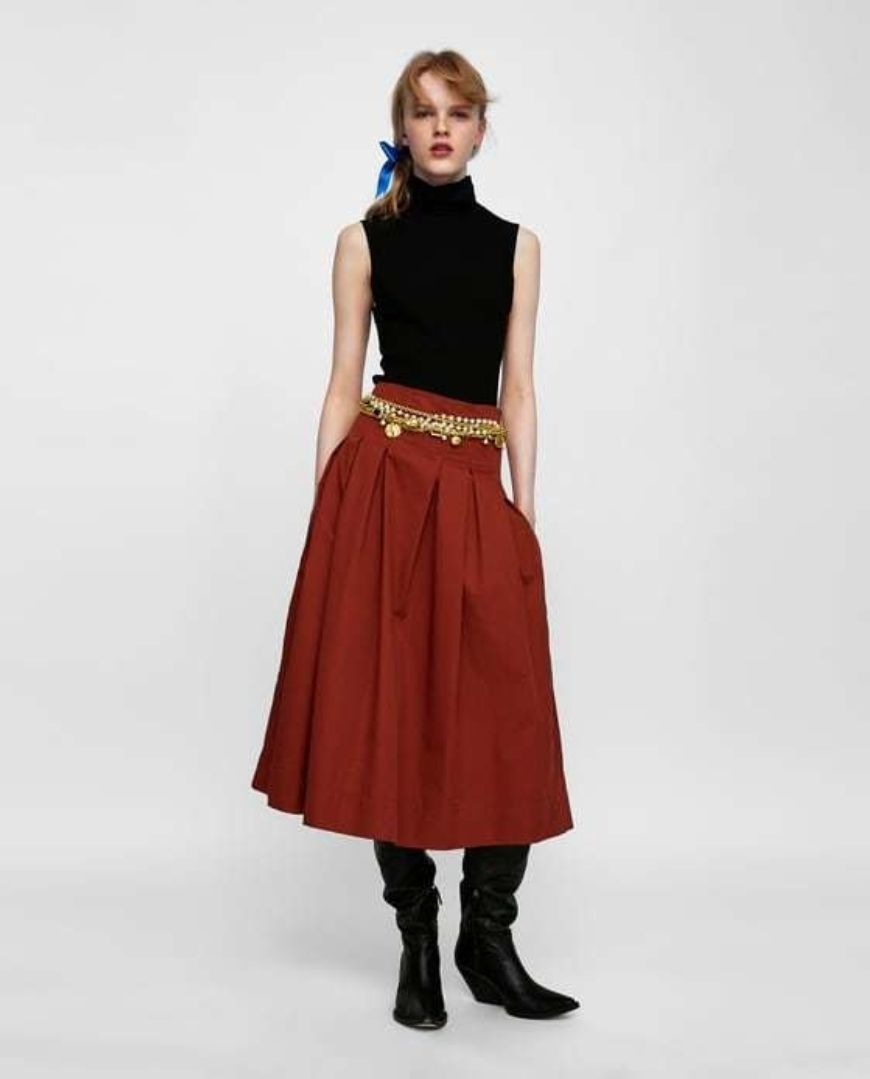 Pleated Skirt Zara