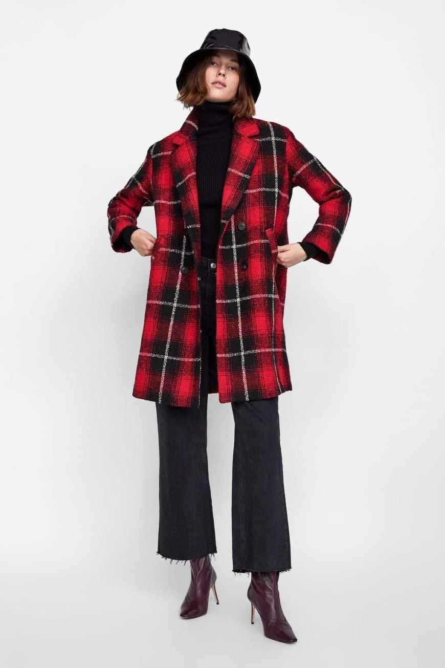 Zara Check Coat