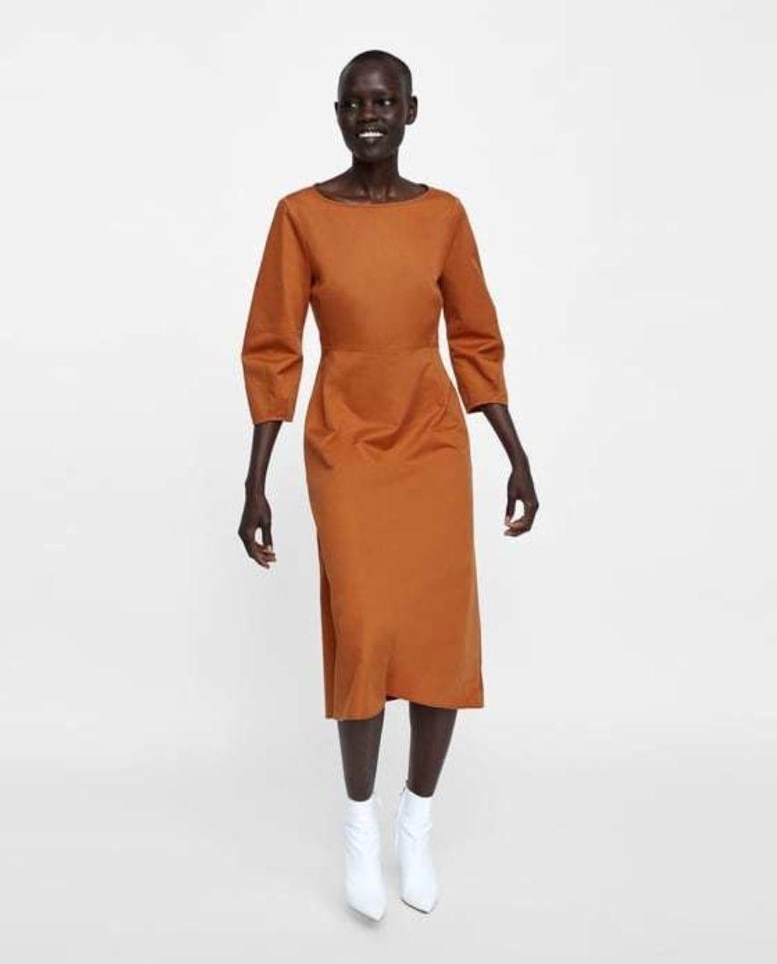 Zara Pull Sleeve Dress