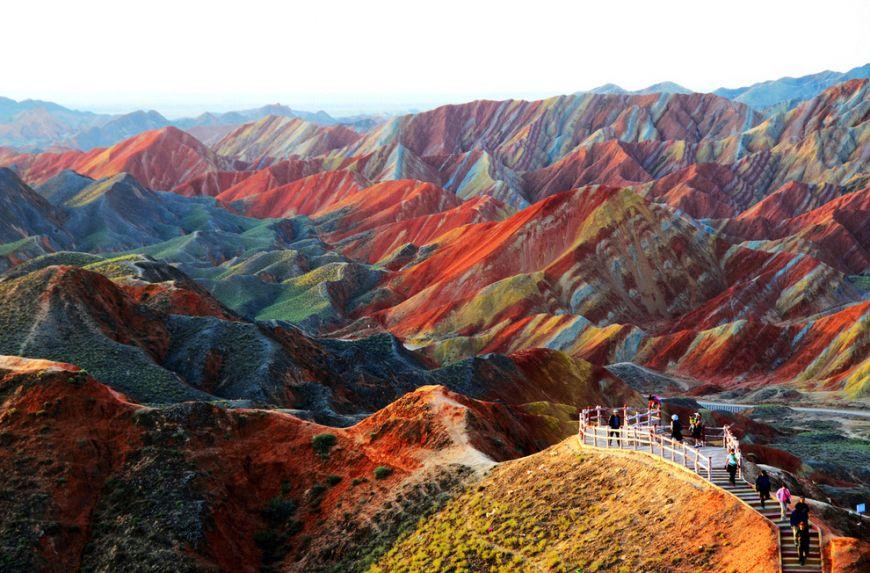 Zhangye-Danxia-landform-in-Gansu-China