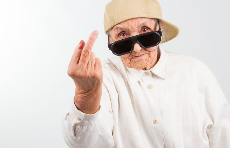 Granny Middle Finger