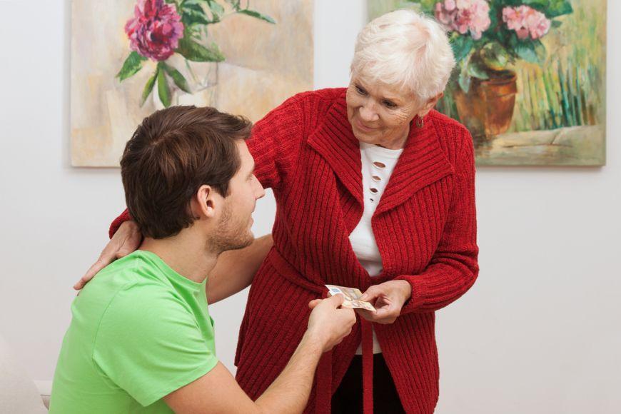 Granny Giving Money