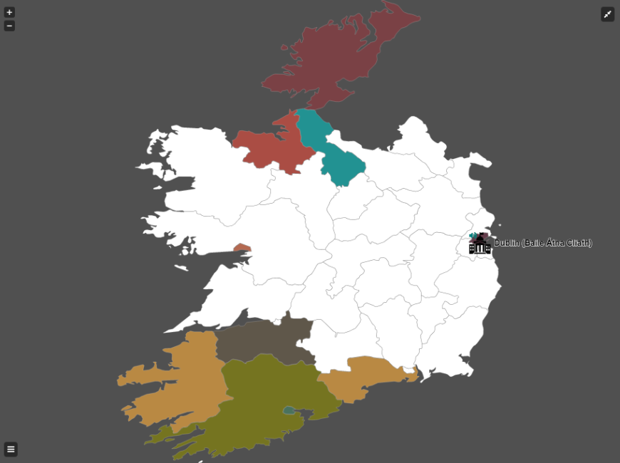 Map Counties Of Ireland.This Map Lets You Listen To Accents Around Ireland Lovin Ie