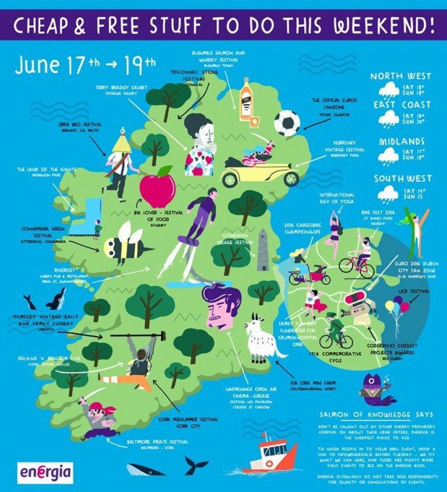 Map Of Ireland To New York.This Infographic Shows You All The Free And Cheap Things To Do In