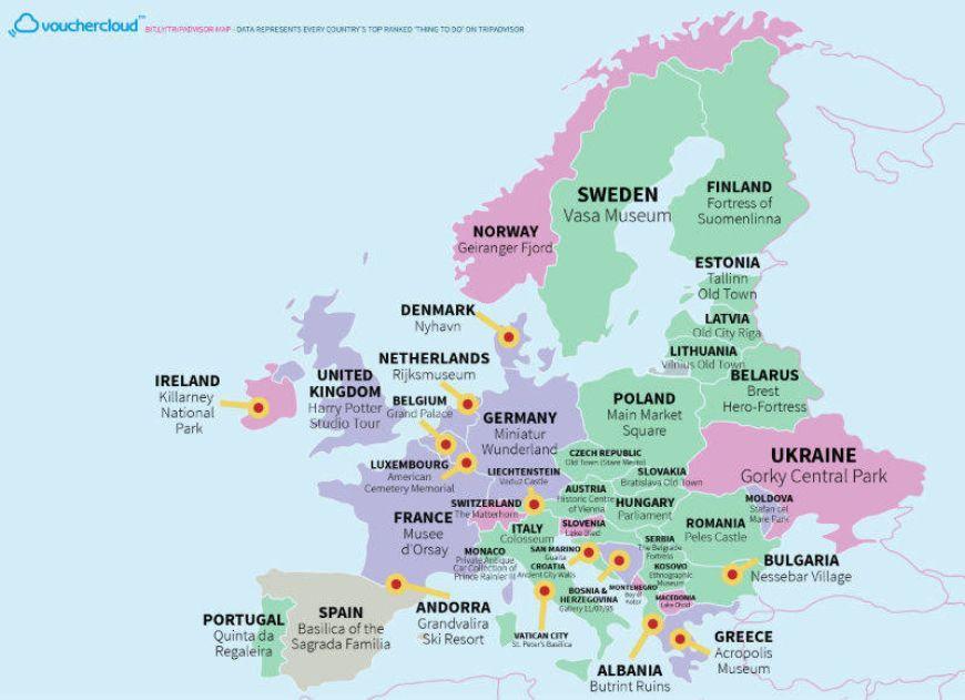 Tripadvisor Map Europe