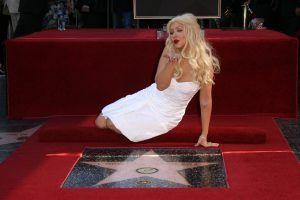Christina Aguilera on Hollywood Walk of Fame