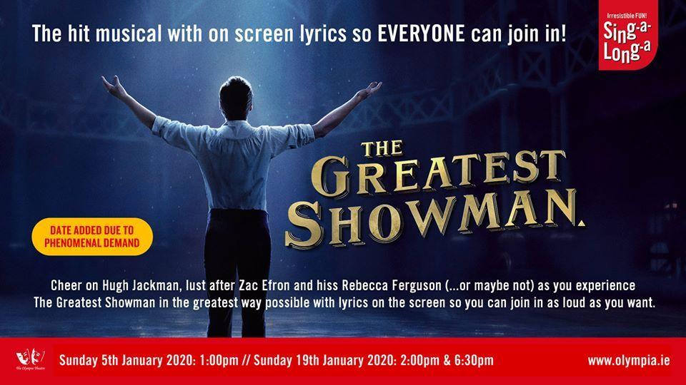 greatest showman sing a long