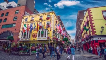 Dublin's tourist-to-local ratio is higher than New York and London