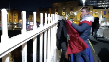 'Warm for Winter' organiser has hung up more coats on the Ha'penny Bridge