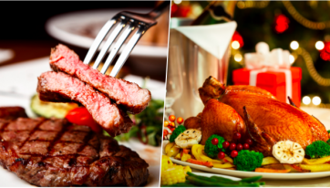25 per cent would prefer steak over turkey for Christmas dinner