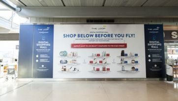 Dublin Airport launches its first digital shopping wall
