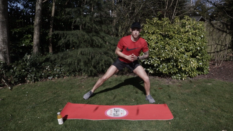 Jack Tuite's high-intensity workout to do at home - high intensity squat walks