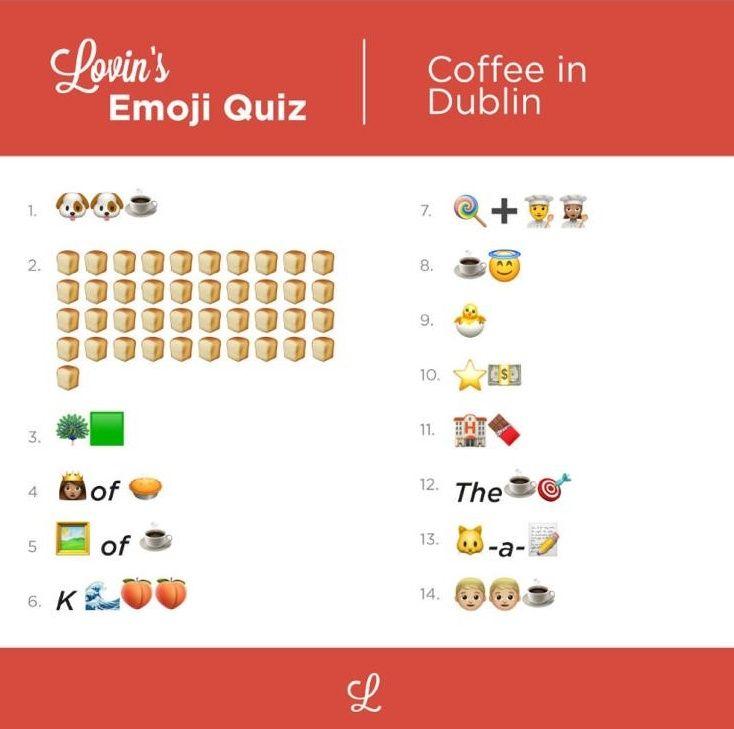 Coffee emoji quiz