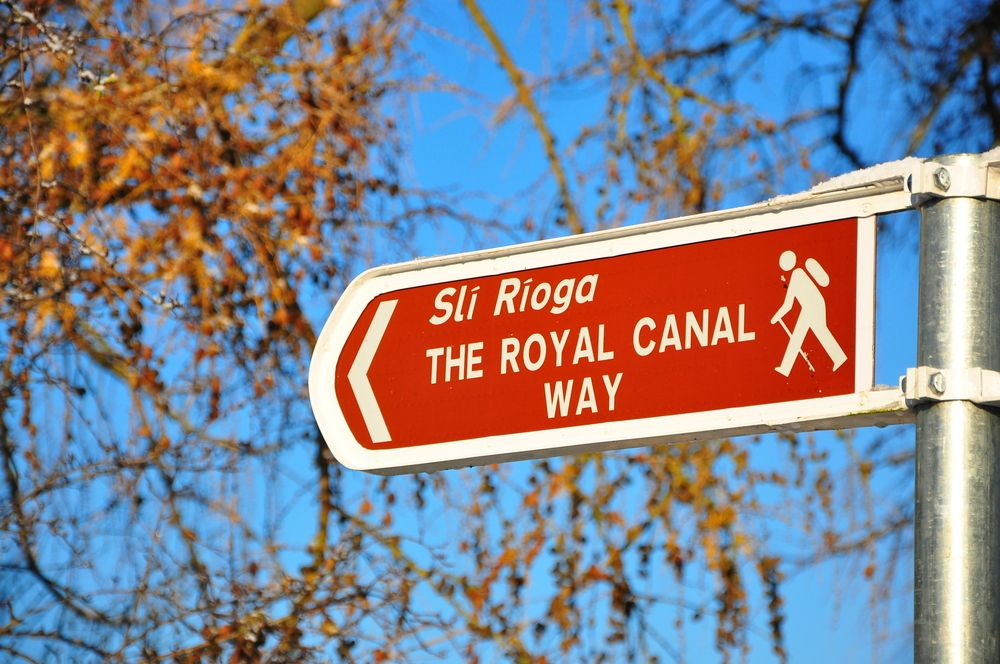 sign for Royal Canal walk to Ashtown