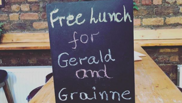 Here's how the Geralds and Grainnes of Dublin can get a free lunch this week