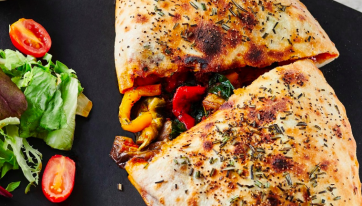 Milano has added a vegan calzone to its menu