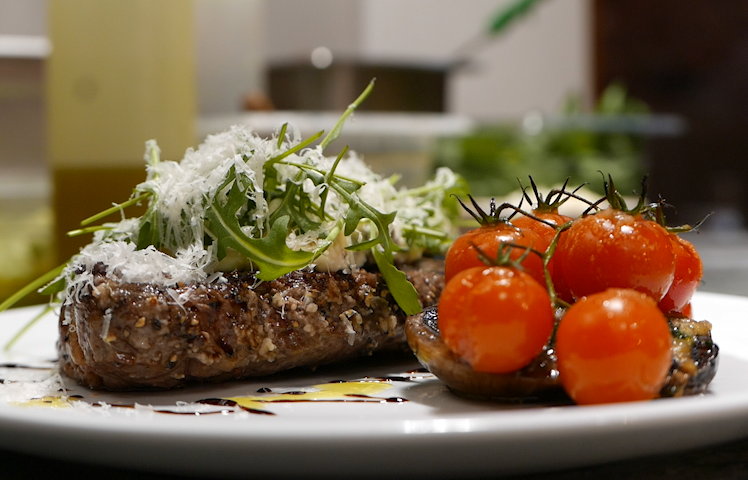 Steak from Nero XVII, the new pizza, pasta and grill restaurant.