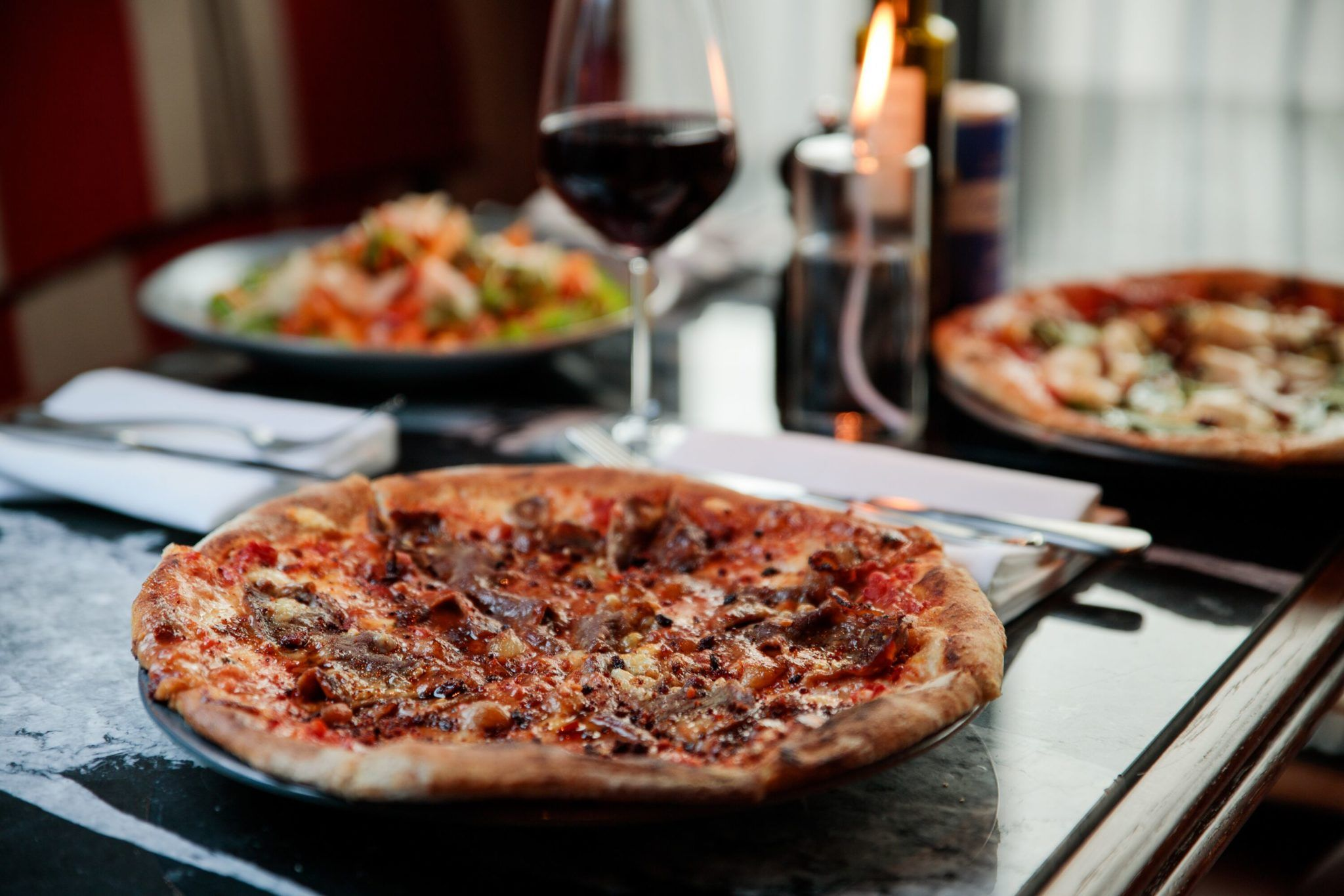 Valentine's Day pizza at Mackenzie's