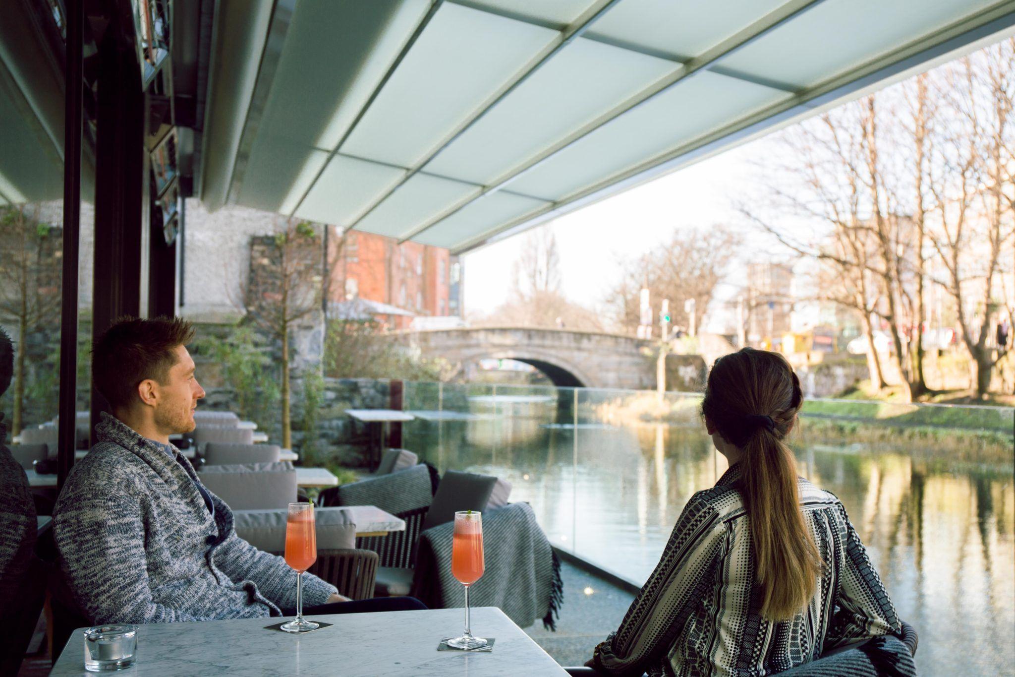 Couple having Valentine's Day Dinner in Dublin