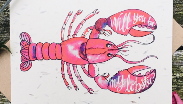 You're my lobster: show the love with these eco-friendly plantable Valentine's cards