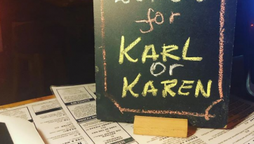 It's your turn for a free lunch in Dublin this week if your name is Karl or Karen