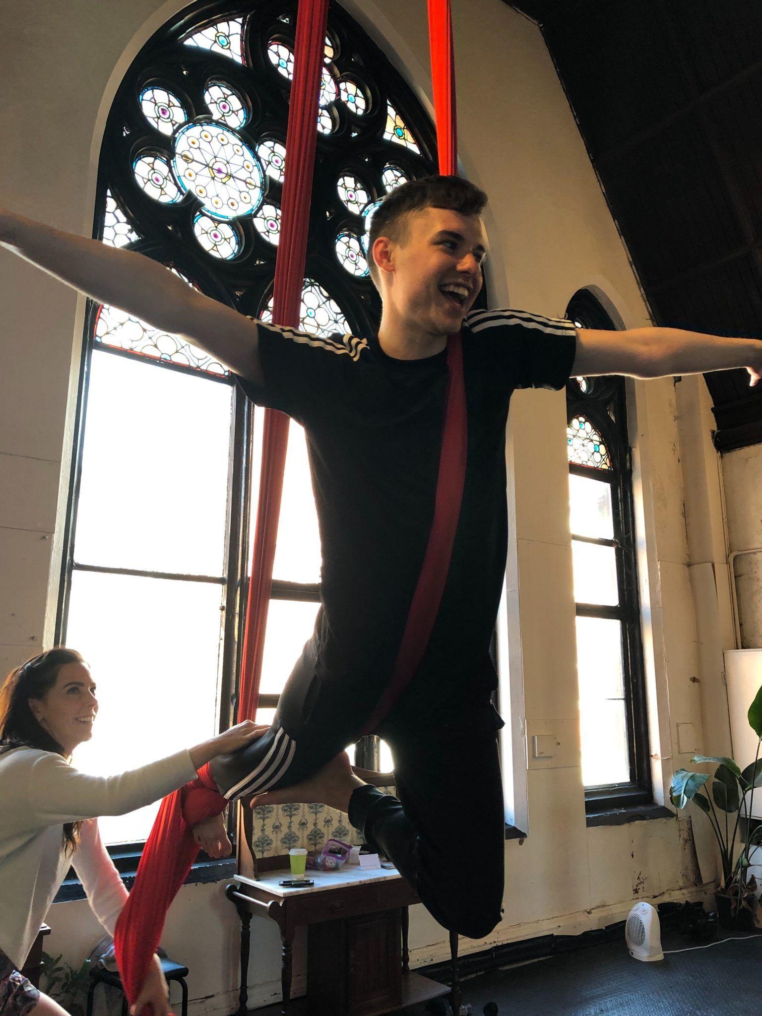 twists aerial yoga