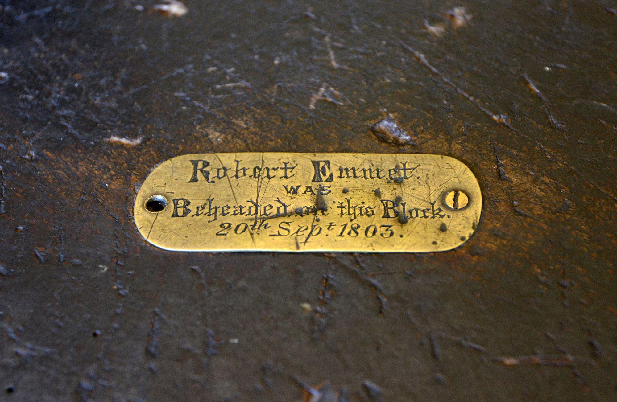 Robert Emmet's execution block, Dublin