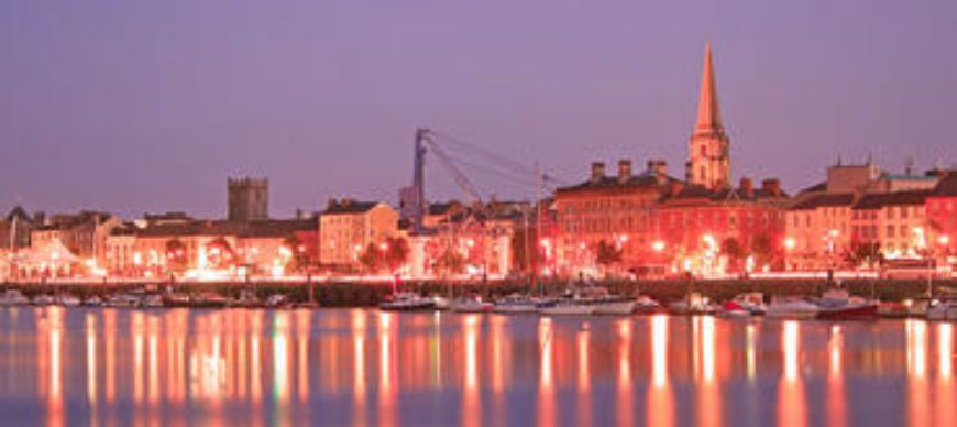 Waterford city at night